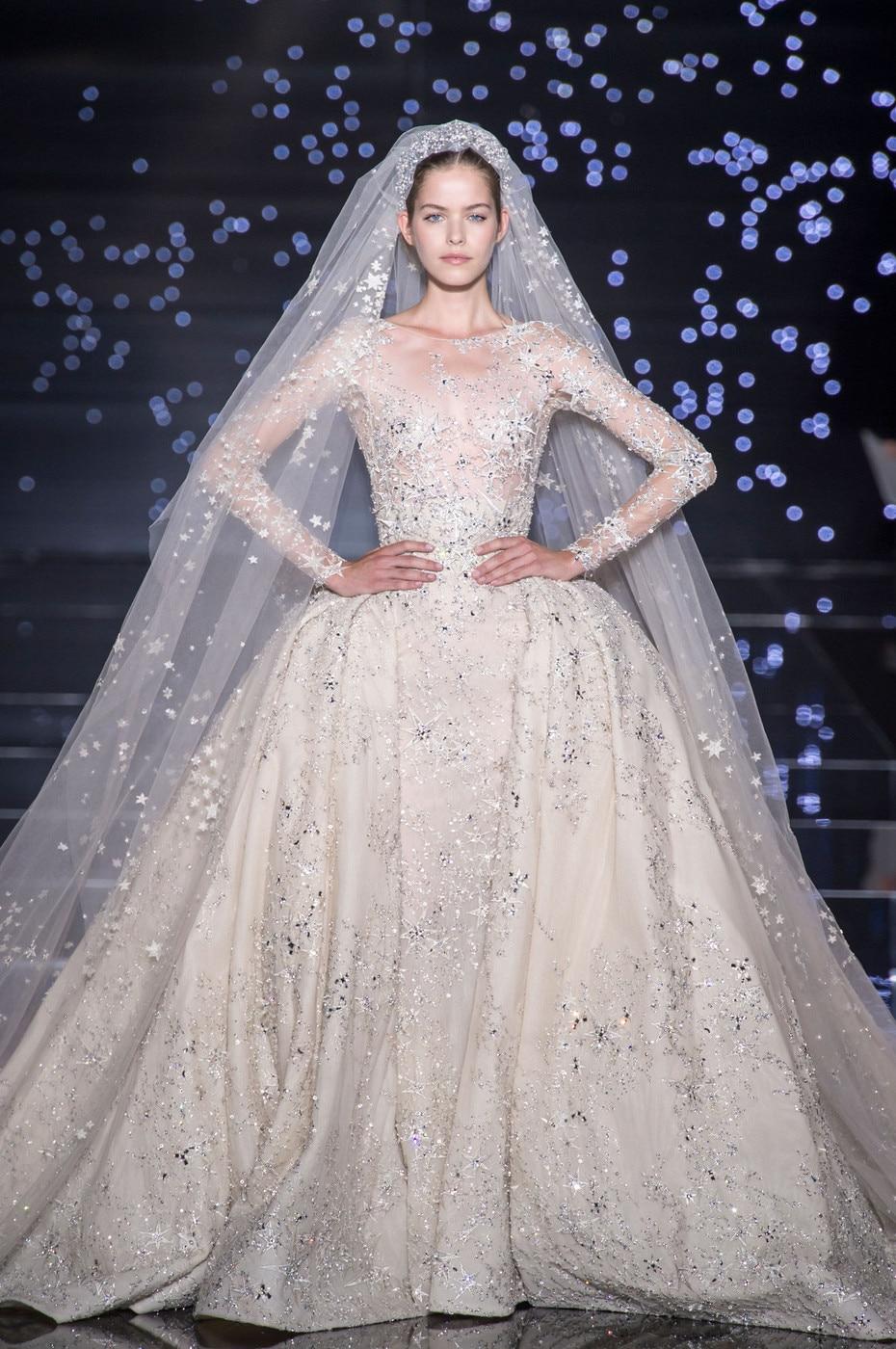 2017 Zuhair Murad Design Hot Luxury Beading Crystal Hign Quality Wedding Dress Veatidos De Novia Ms1012 21 In Dresses From Weddings Events On