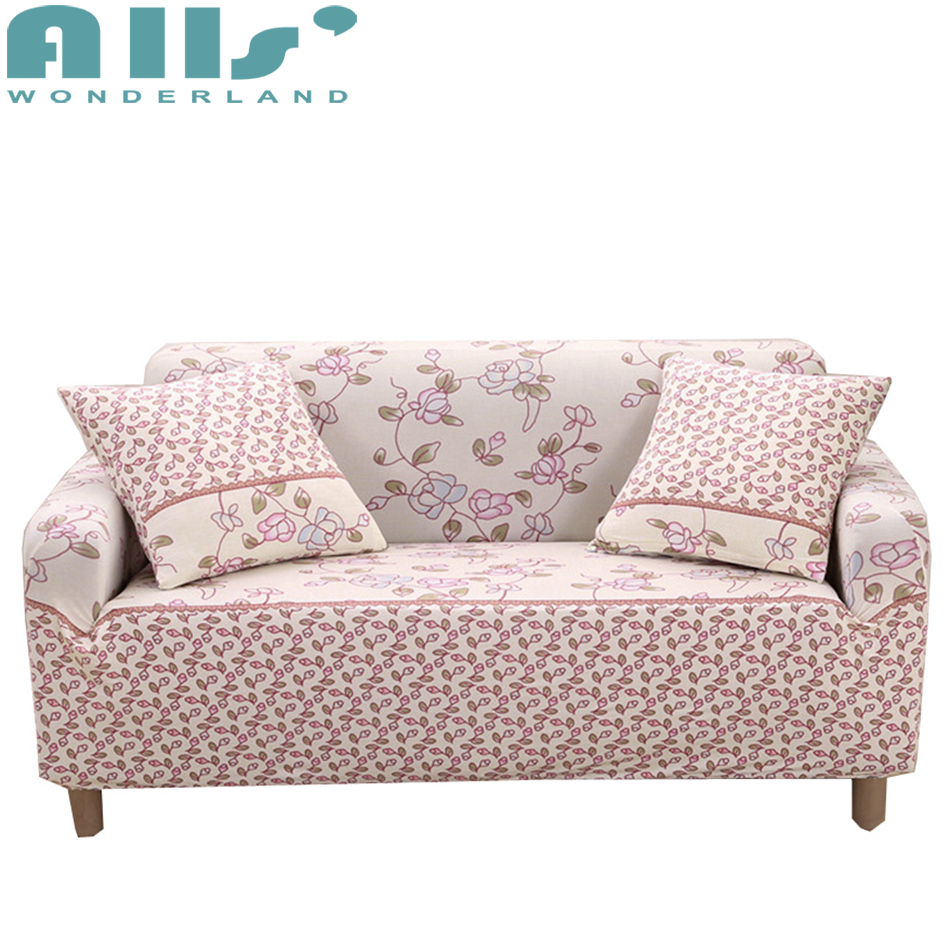 Flower Slipcover Sofa 3 Seat Couch Covers Spandex Sofa