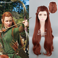 The Hobbit Tauriel Cosplay Wig Halloween 100cm Brown Long Braided Wig Craig Hal Role Play Hair The Lord of the Rings Elf Wig