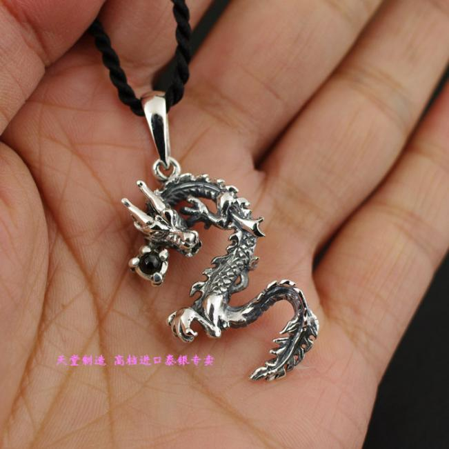 цена на Thailand imports, imports of 925 Silver Dragon Pearl Silver Pendant