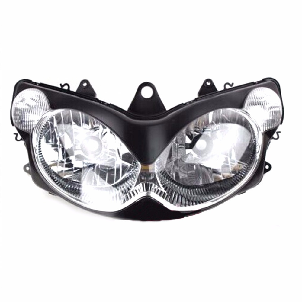 KEMiMOTO New Motorcycle Headlight For Kawasaki ZZR1200 2002 2003 2004 2005 Head Light Clear ZZR 1200 2013 2014 motorcycle accessories racing vintage clear lens uv protection helmet goggles glasses eyewears for 2004 2005 kawasaki zx10r