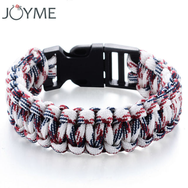Paracord Bracelets Kit Military Emergency Survival Bracelet Men Women Uni Rope Charm