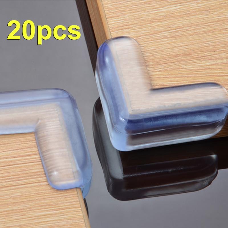 20 Pcs High Quality Baby Safety Corner Silica Gel Edge Corner Guards Soft Collision Angle