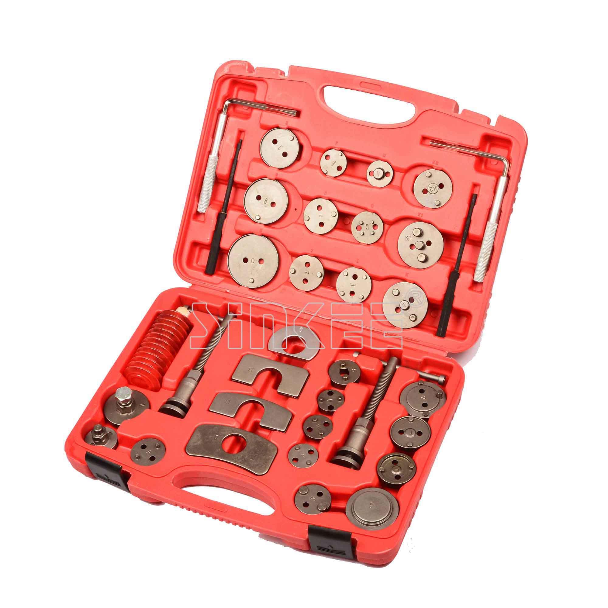 35pcs Universal Disc Brake Wind Back Pad Caliper Piston Compressor Tool Kit Set kitmmm5910121296unv20630 value kit highland transparent tape mmm5910121296 and universal perforated edge writing pad unv20630
