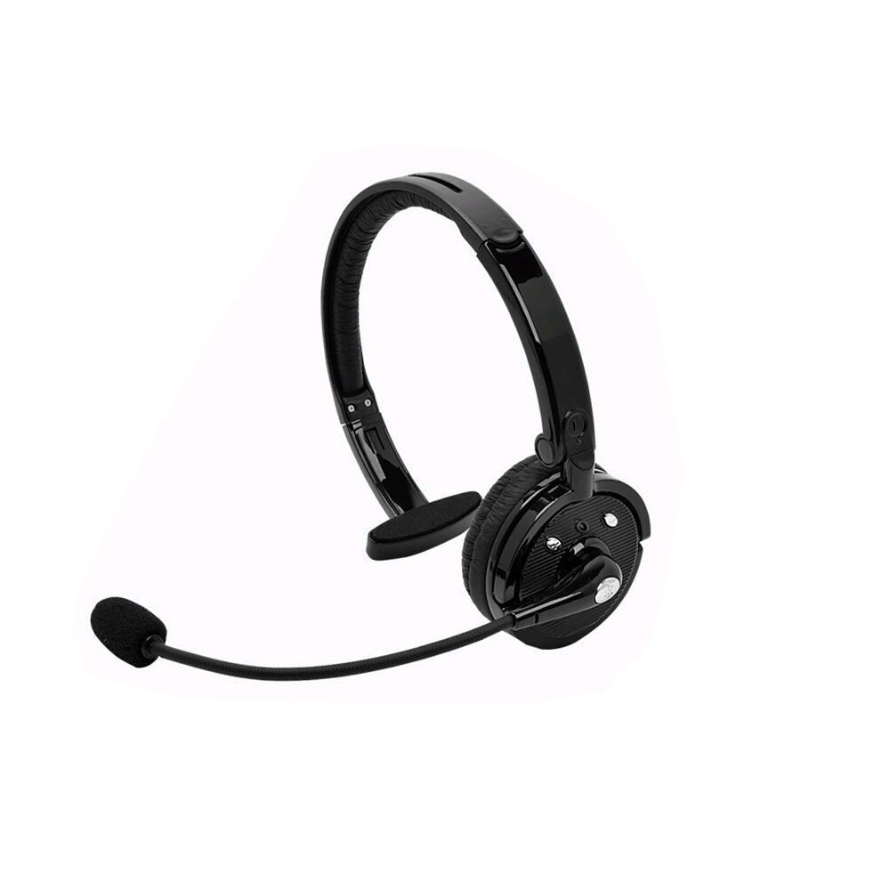 Over-The-Head Mono Earphone Wireless Bluetooth Headphone Trucker Driver Headset Noise Canceling with Mic for PC PS3 Gaming Phone
