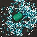 1000 unids 2mm Pedrería de Cristal Azul del Color Caliente de Diseño Decoraciones Del Arte Del Clavo Etiqueta Engomada Del Clavo de Los Rhinestones Para Uñas de Manicura Z019E