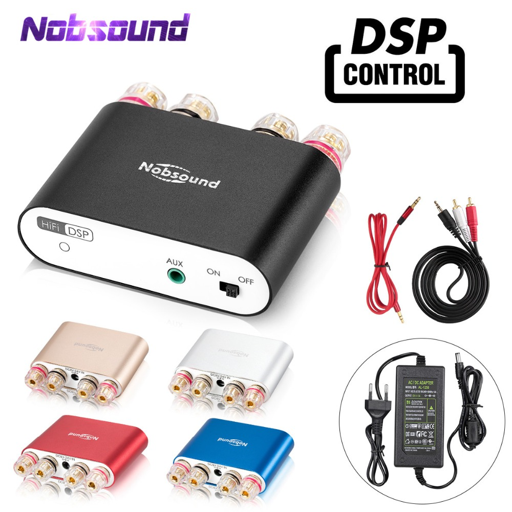 2019 Nobsound NS-10G PRO Hi-Fi DSP Digital Amplifiers Stereo Mini Bluetooth 4.2 Home Audio Power Amp 50W*2 With Power Adapter gis chino para chinches