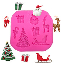 Christmas Supplies Santa Claus silicone mold fondant cake decoration baking mold kitchen tools FT-017