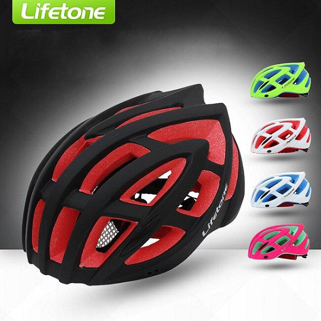 ФОТО LIFETONE Road Cycling Helmet MTB EPS+PVC Bike Helmet Ultralight Camouflage Integrally-Molded Safe Anti-Collision Bicycle Helmet