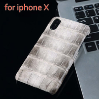 In Stock New Natural Crocodile Belly Skin Case For Iphone X Real Genuine Crocodile Leather Cover