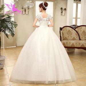 Image 4 - Aijingyu 2021 fotos reais nova venda quente barato vestido de baile rendas até voltar formal vestidos de noiva vestido de casamento wk321