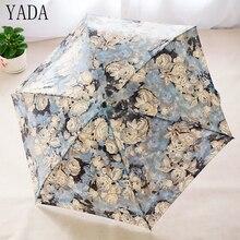 YADA NEW Mini Flower Pattern Folding Umbrella Rain Women brand Womens Pocket high quality Charms kids Umbrellas YS128