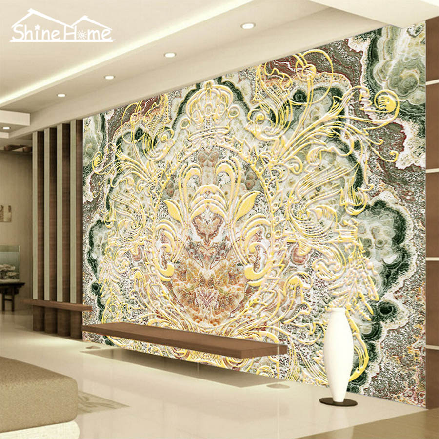 Retro pattern abstract photo 3d room photo wallpaper for Abstract mural wallpaper