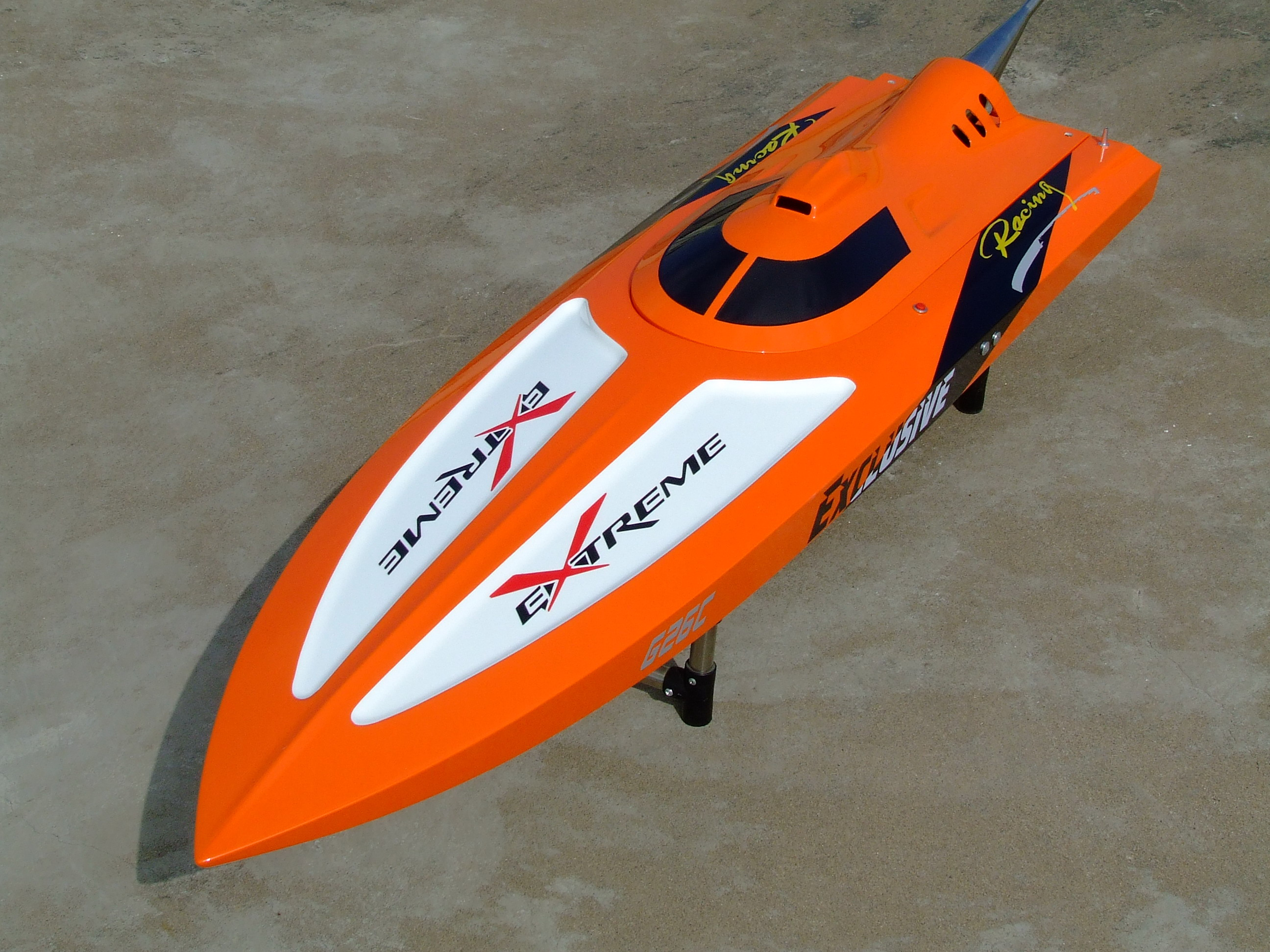 G30C ARTR Fiberglass RC Racing Boat 30CC Engine Water Cooling Sys Exhaust' Sys Orange cnc aluminum water cooling jacket for 29cc zenoah engine rc boat