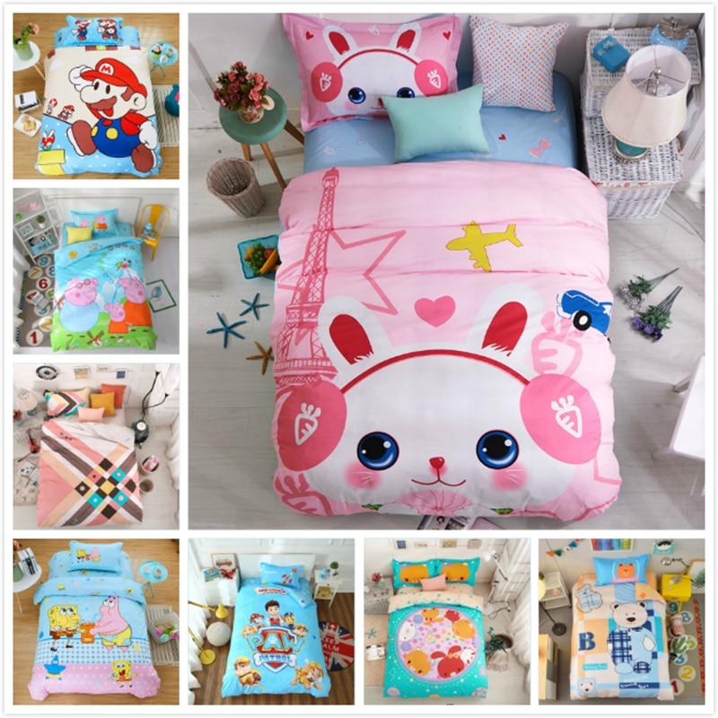 100% Cotton Soft 150x200 Duvet Cover 3pcs Bedding Sets Kids Boys Girls Bed Linen 3D Europe Single Queen Size Bedsheet Pillowcase