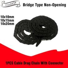 10x10 мм 10x15 мм 10x20 мм кабель Цепной провод Перевозчик для ЧПУ маршрутизатор машина 3d принтер L1000мм