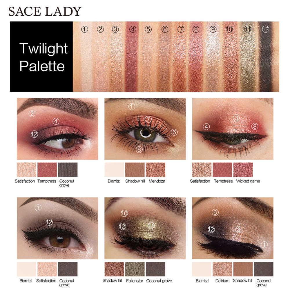 SACE LADY paleta cieni do powiek makijaż brokat paleta cieni do oczu profesjonalny matowy cień makijaż wysoki Pigment Nude Cosmetic