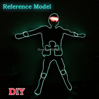 Ghost dance Glowing DIY Clothes EL Suit LED Strip Material New Design Glowing Product