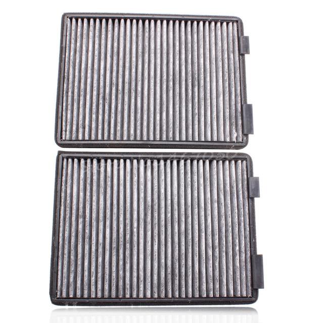2 unids carbón activado filtro de aire para BMW E39 5 Series 525I 528I 530I 540I M5 520D 525D 1997-2003 gris