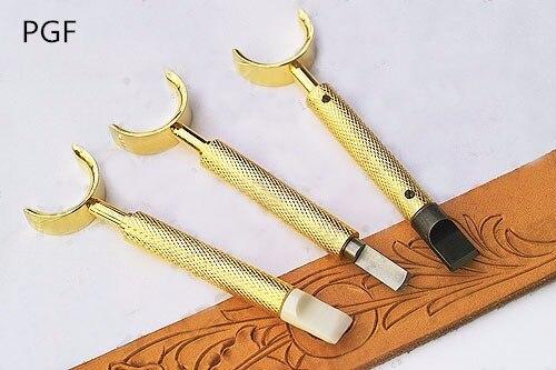 PGFsheridan stil 9,6 mm mässingsark snidade rotationsknivar läder - Konst, hantverk och sömnad - Foto 4
