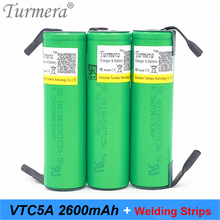 battery 18650 2600mah vtc5a 35a battery for sony slodering weld battery for screwdriver and electric bike battery turmera 18650