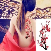 ebcda629e 1piece Body art flash henna tattoo fake temporary tattoos stickers rose peony  flowers arm shoulder tattoo