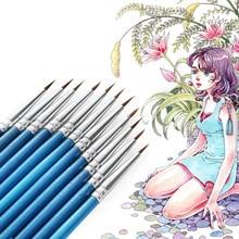 Cake-Decorating-Tool Paint-Brush Pastry Hair-Line Fondant 10pcs/Lot Drawing-Pen Nylon-Fiber