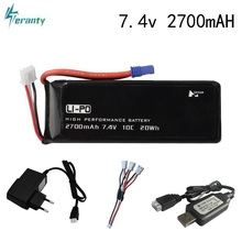 Original for Hubson H501W H501S H501C 7.4V 2700mAh 10C lipo battery and Charger For RC Qaudcopter Drone Parts 2s 7.4 v Battery
