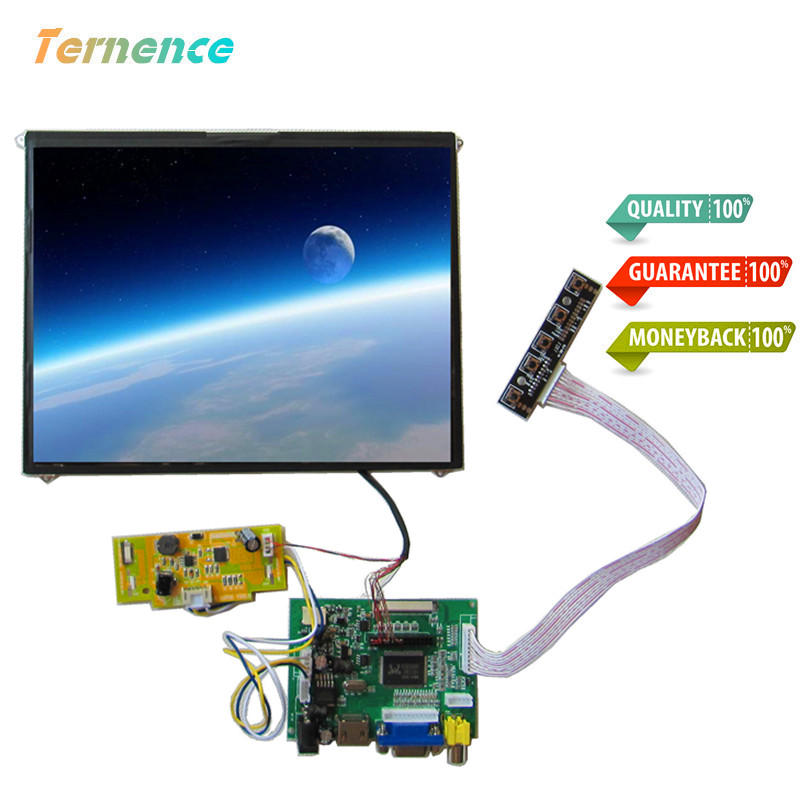 9.7 inch LCD for Medical Magnifier 4:3 full viewing angle 1024*76 HD digital LCD display screen kit HDMI+VGA+2AV without Touch|Tablet LCDs & Panels| |  - title=