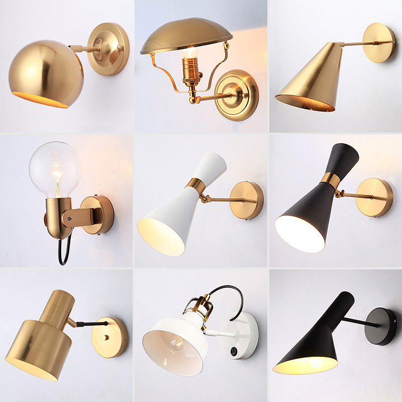 Modern Sconce Lighting Wall Mounted Bedside Reading Light Creative Wall lamp Living Room Foyer Home Lighting Golden Wall SconceModern Sconce Lighting Wall Mounted Bedside Reading Light Creative Wall lamp Living Room Foyer Home Lighting Golden Wall Sconce