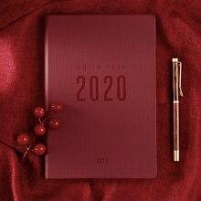 2019 2020 Agenda de rabot pour ordinateur portable A5 Note quotidienne réunion Journal daffaires calendrier hebdomadaire fournitures scolaires papeterie cadeau