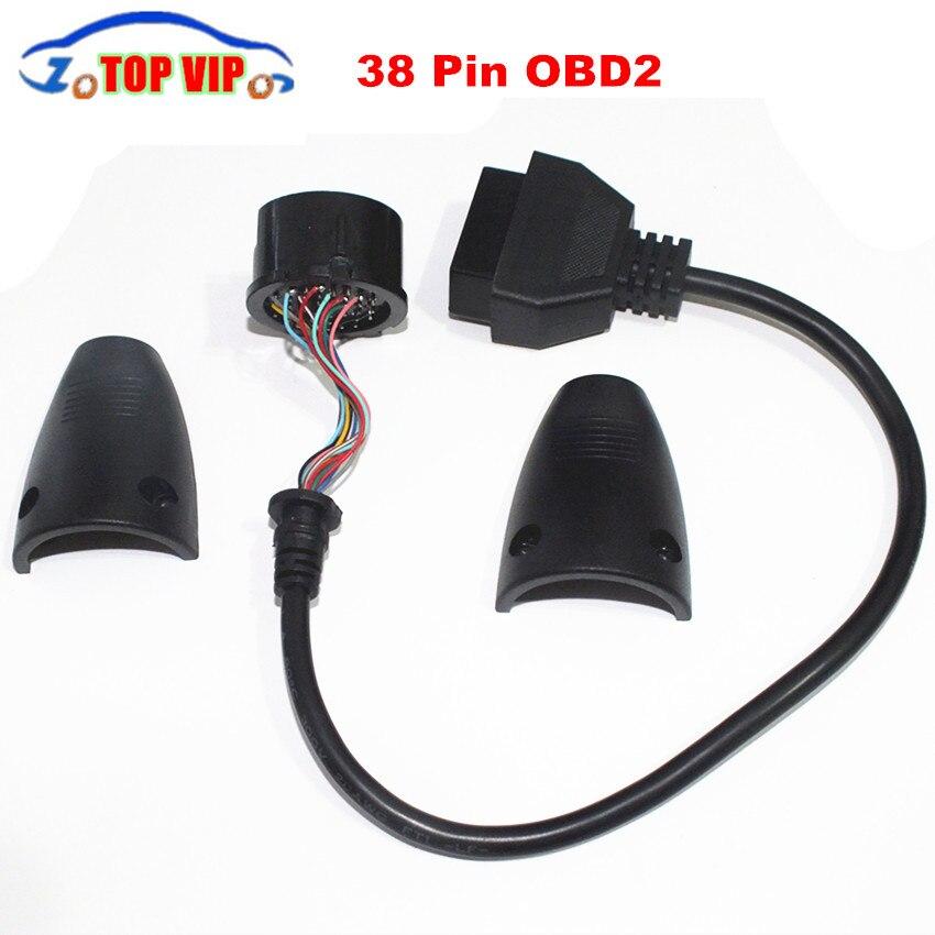 Prix pour Universel MB 38 Broches à 16 Broches OBD OBD2 plein pin peut amovible OBDII De Diagnostic Adaptateur Connecteur Câble 38pin livraison gratuite