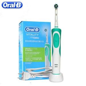 Image 1 - Oral B Sonic elektrikli diş fırçası şarj edilebilir D12S ağız bakımı diş beyazlatma canlılık dönen diş fırçası diş fırçası diş