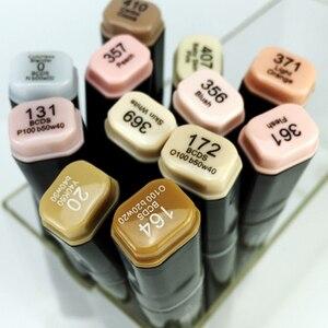 Image 5 - Двусторонние маркеры Finecolour EF102, 12/24/36 цветов манги, тонкие тона, эскиз, графический дизайн с коробкой для ручек