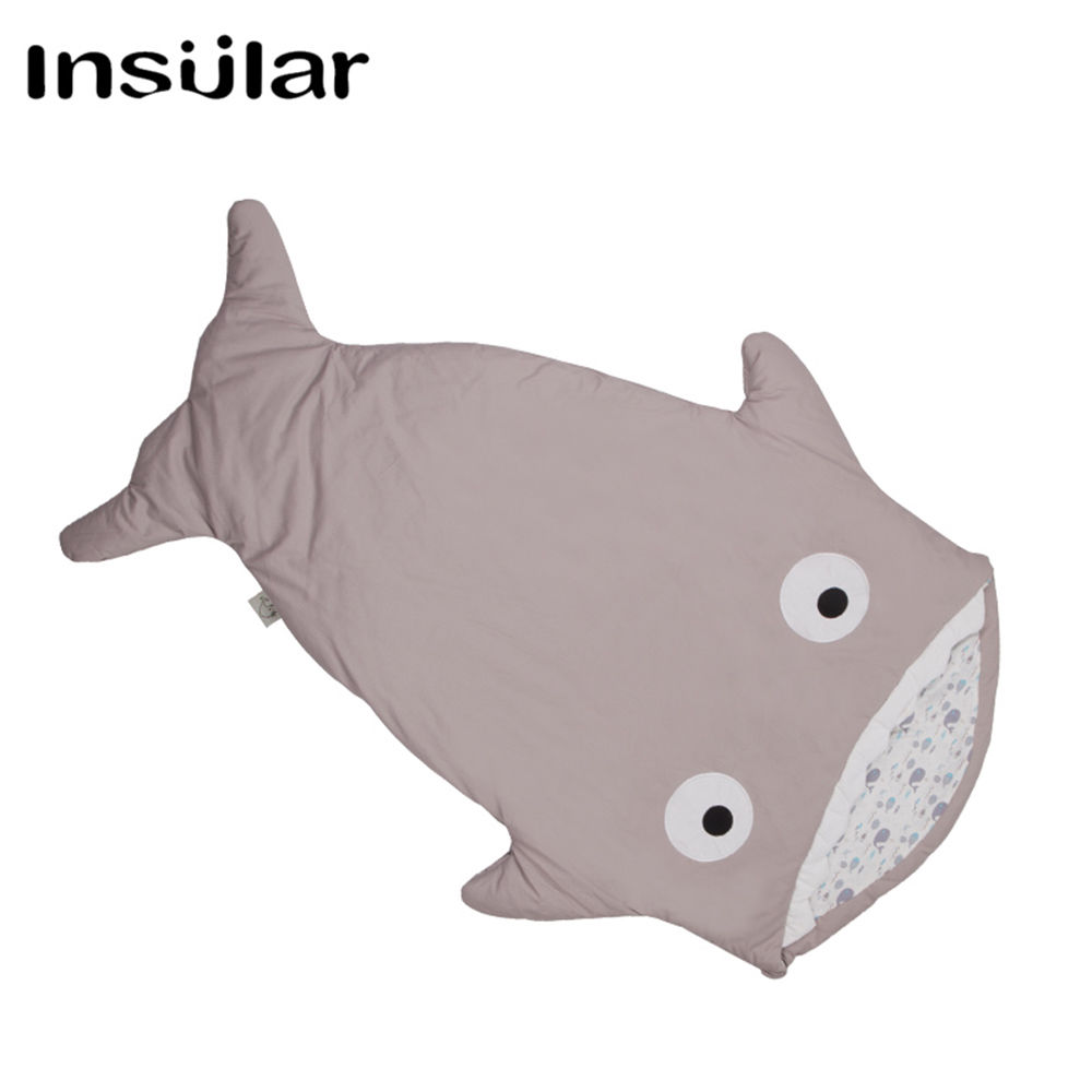 इंसुलर ब्रांड न्यू अराइवल शार्क बेबी स्लीपिंग बैग विंटर बेबी स्लीप बोरी वार्म बेबी कंबल स्वाडल