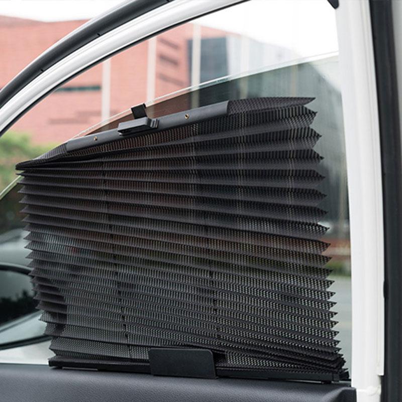 Выдвижная Автомобильная Солнцезащитная шторка, автомобильный солнцезащитный козырек, нейлоновая сетка, солнцезащитный козырек