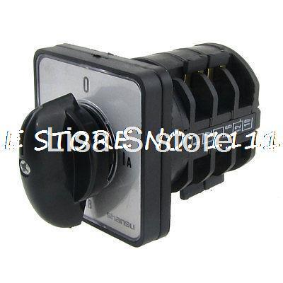 380V/AC 220V/AC 4 Position Rotary Cam 12 Screw Terminals Changeover Switch