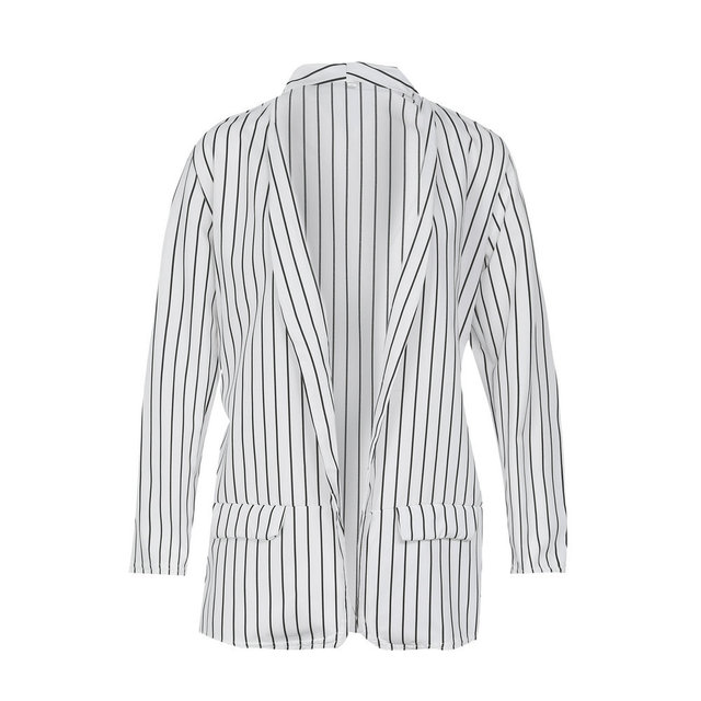 Fall Womens Jackets Striped Harajuku Korean Plus Size White Blazer Mujer Plaid Dust coat Casual Blazers Women Blazers and Jacket