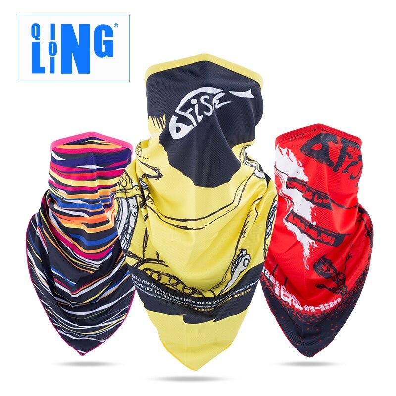 Prix pour Qinglonglin absorption de La Transpiration élasticité solaire équitation bandanas Sport BicycleMasks UV protéger plein visage écharpe antipoussière cap