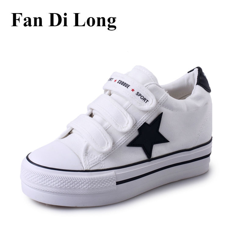 New 2017 Women Canvas Shoes Casual Breathable Trainers Walking Shoes Increase Height zapatillas deportivas mujer,free shipping men casual shoes mens shoes summer walking canvas shoes black pu basket zapatillas deportivas men brand canvas espadrilles