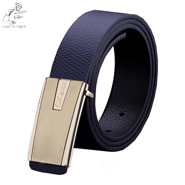 Mulheres Cinto Cintos de Couro Genuíno Para Homens 2016 Marca de luxo Nova Marca de Moda Ouro Fivela Cinturones Hombre Feminino Cinto Q142