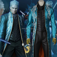 Free Shipping Devil May Cry 3 Vergil Cosplay Costume Halloween Costumes