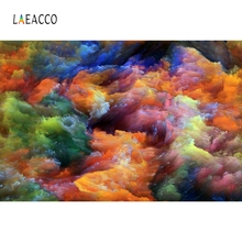 Laeacco Colorful Cloud Portrait Ink Painting Scene Photography Backgrounds Customized Photographic Backdrop For Photo Studio