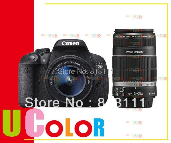 Galleria fotografica Nouveau Canon EOS Rebel T5i 700D DSLR Caméra 18-55mm EST STM + EF-S 55-250mm f/4-5.6 IS STM Double Lentille Kit