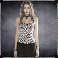 Women high quality Sexy Overbust Corset Girls Sweet Bow Halter Lace Corsets Zebra stripes Bustiers Party Corselet Top S-2XL