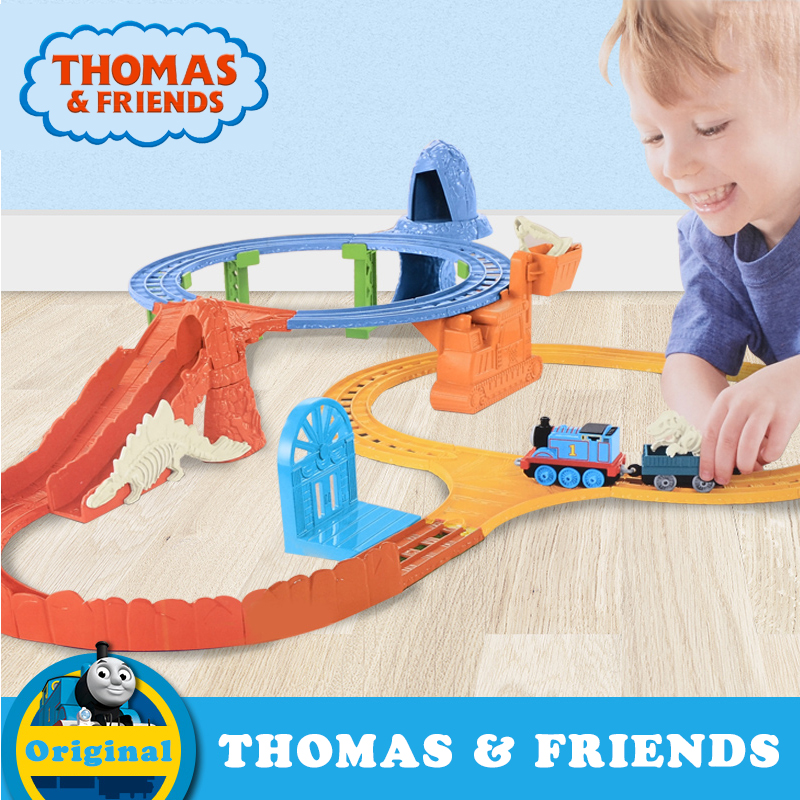 Original Thomas Mini Diecast Train Model Toys With Track Building Railway Electric Series Funny Friends Toy For Kids CDV09