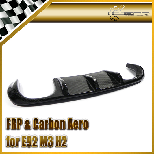 Car Styling For BMW E92 M3 H2 Style Real Carbon Fiber Rear Diffuser