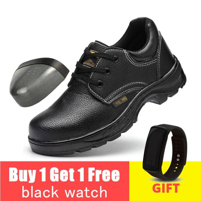 鋼つま先作業安全靴抗スマッシング抗スリップ鋼パンク証拠建設古典男性作業靴 # WL801