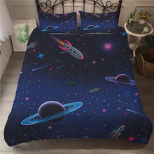 A Bedding Set 3D Printed Duvet Cover Bed Space astronaut Home Textiles for Adults Bedclothes with Pillowcase #ETTK04