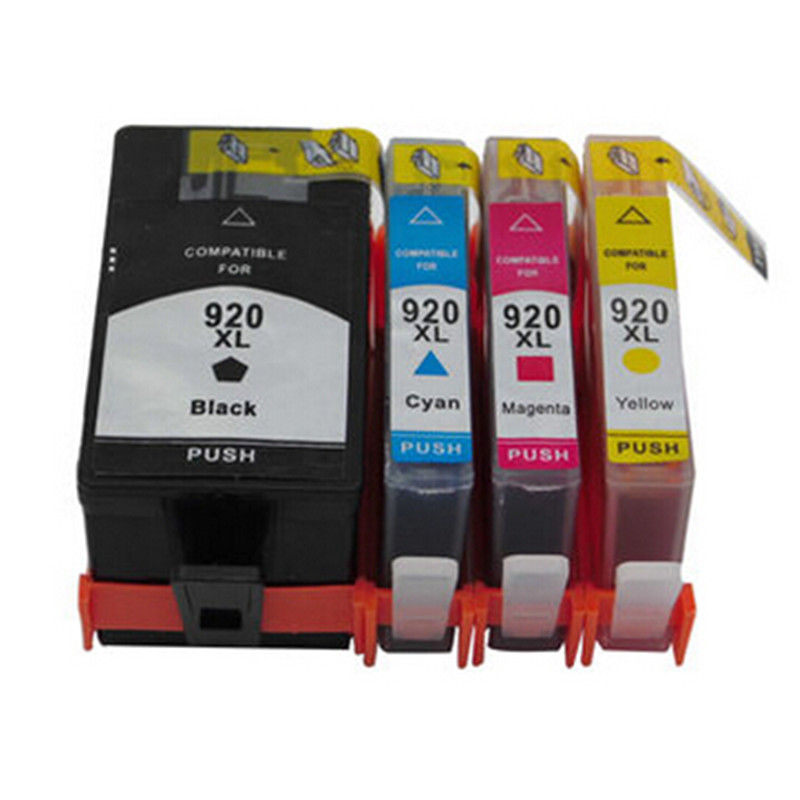 4 pcs for hp 920xl 920 xl ink cartridge black cyan magenta for Ink sale